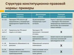 Примеры норм в конституции рф