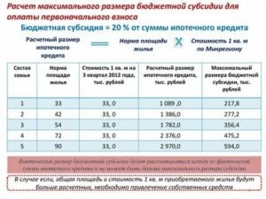 Учеиная Норма Жилплощади Для Расчета Субсидий По Программе Молодая Семья В Москве