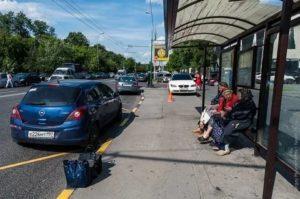 Парковка после автобусной остановки