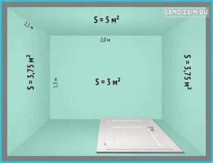 Сколько квадратных метров в комнате 4 на 4