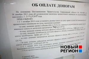 Сколько платят за донорство крови 2021 москва