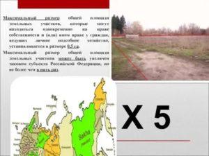 Максимальная площадь земельного участка для лпх