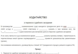 Образцы ходатайства в суд по административному делу