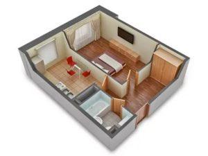 Сколько квадратных метров квартира однокомнатная
