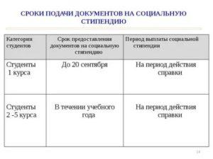 Документы для оформления социальной стипендии в 2019 году