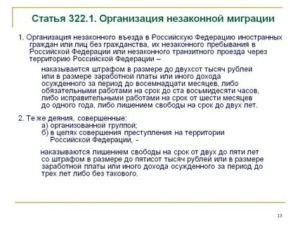 Ст 322 1 Ук Рф Организация Незаконной Миграции Судебная Практика