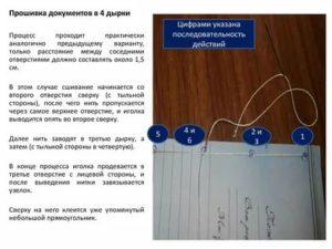 Правила прошивания документов гост