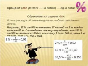 Как рассчитать долю в процентах от общей суммы