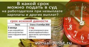 Срок Исковой Давности При Взыскании Заработной Платы
