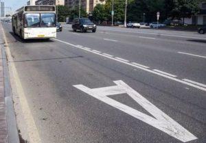 Штраф за автобусную полосу сколько