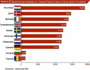 Прожиточный минимум в разных странах мира таблица 2021