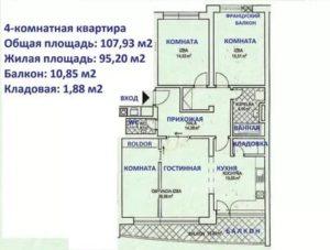 Жилая площадь квартиры включает снип