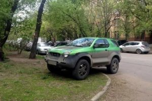 Штраф парковка на зеленой зоне